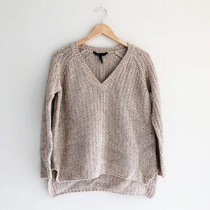BCBGMaxAzria Emmy Wool Blend Knit V-Neck Sweater